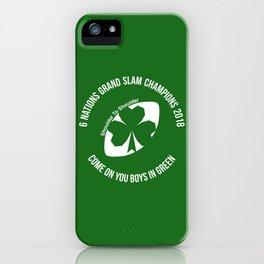 Ireland - Grand Slam Champions 2018 iPhone Case