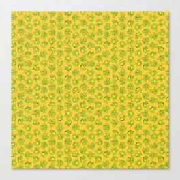 Botanken's Pattern Dream: Yellow. Canvas Print