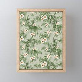 Vintage Jungle Pattern #society6 #decor #buyart Framed Mini Art Print