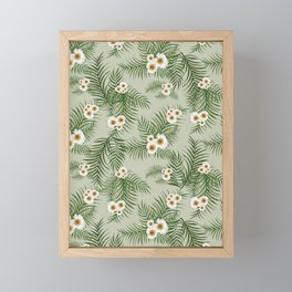 Vintage Jungle Pattern Framed Mini Art Print