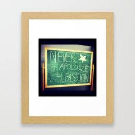 Professor Angus' Wise Words Framed Art Print