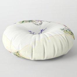French Postage, meet me in Paris Floor Pillow