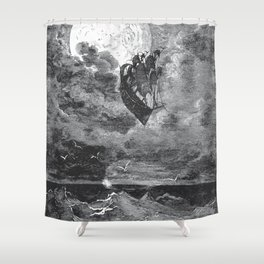 Gustave Dore: A Voyage To The Moon Shower Curtain