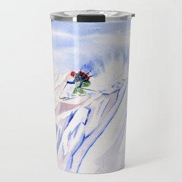 Powder Skiing Travel Mug