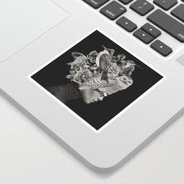 Lady with Birds(portrait) Sticker