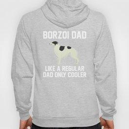 Funny Borzoi Dad Hoody