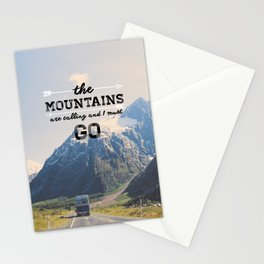 The Mountains are Calling Stationery Cards