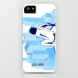 Me against the city iPhone Case