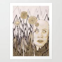 anxiety Art Prints featuring Anxiety by Gabi Pezoa