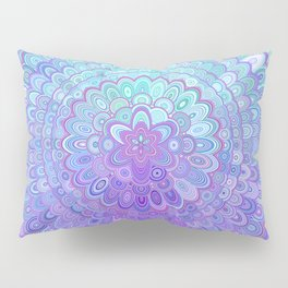 Mandala Flower in Light Blue and Purple Pillow Sham