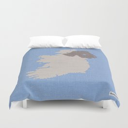 Ireland Linen Fabric Map Art Duvet Cover