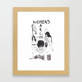 Women's March - by Maria Paredes Framed Art Print