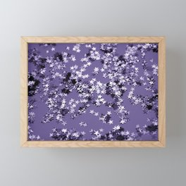 Ultra Violet Glitter Stars #1 #shiny #decor #art #society6 Framed Mini Art Print