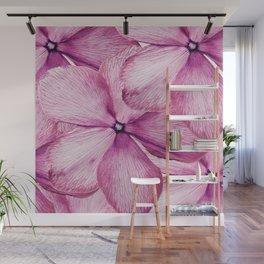 Big Pink Flowers Wall Mural