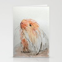 guinea pig Stationery Cards featuring Guinea pig by N.Romano
