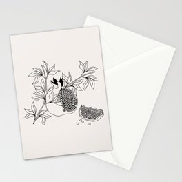Pomegranate (BW) Stationery Cards