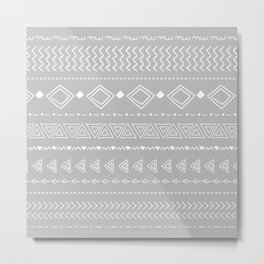 Indigo geometric Metal Print