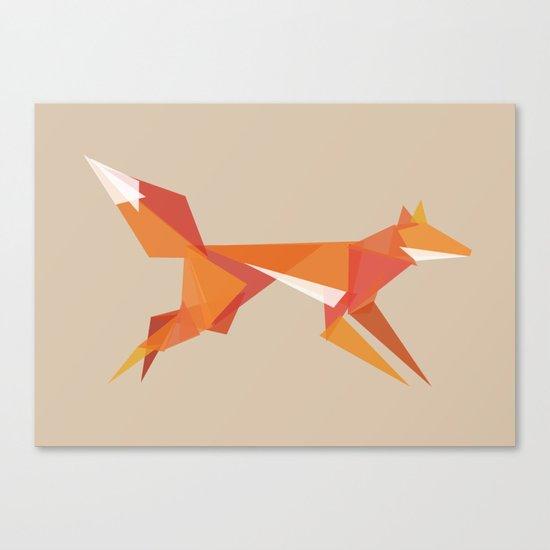 Fractal geometric fox Canvas Print