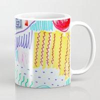 doodle Mugs featuring DOODLE by austeja saffron