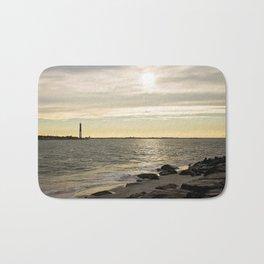 Sunset and the Lighthouse Bath Mat