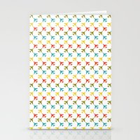 planes Stationery Cards featuring Colored planes by Yasmina Baggili