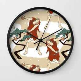 Kabuki Snow Day Wall Clock