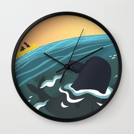 Evil Dolphin Wall Clock