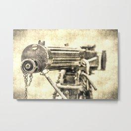 Vickers Machine Gun Vintage Metal Print