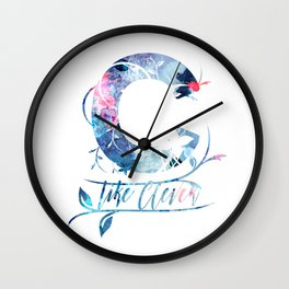 ''C'' like clever quote Wall Clock