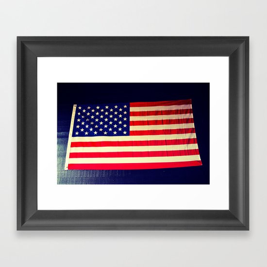 Wall flag Framed Art Print