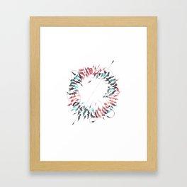 Calligram Framed Art Print