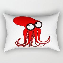 Cute Red Octopus Rectangular Pillow
