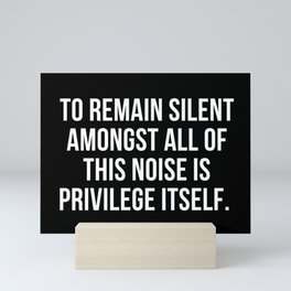 Privilege check Mini Art Print