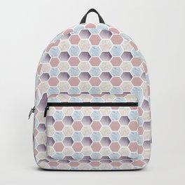 Pastel Hexagon Pattern Backpack