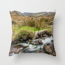 Tryfan Snowdonia National Park Throw Pillow