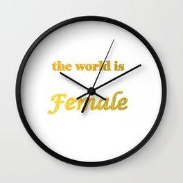 the world is female. Home dminimalecor Wall Clock