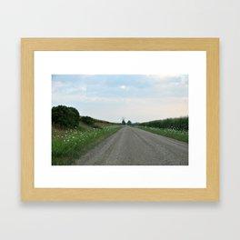 Back Road Framed Art Print