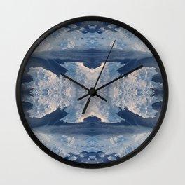 Nordic Blues Wall Clock