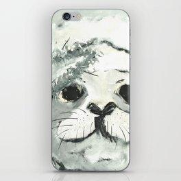 White Seal iPhone Skin