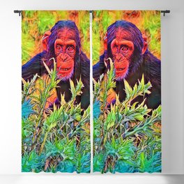 AnimalColor_Chimpanzee_003_by_JAMColors Blackout Curtain