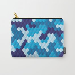 CUBOUFLAGE BLUE Carry-All Pouch