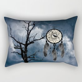 Black Bird Crow Tree Dream Catcher Night Moon A082 Rectangular Pillow