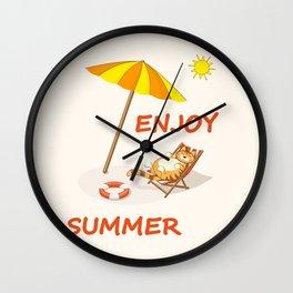 enjoy sunny summer Wall Clock