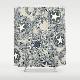 cirque fleur stone Shower Curtain