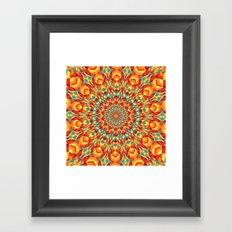 Summer Mandala 7 Framed Art Print