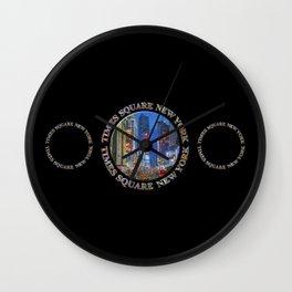 Times Square New York Triple Emblem (on black) Wall Clock