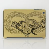 celtic iPad Cases featuring Celtic Wolves by Rachel Hoffman