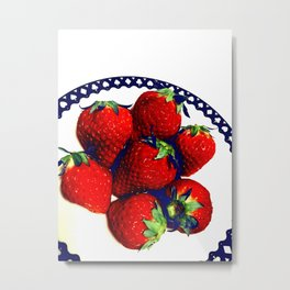 3D strawberries Metal Print