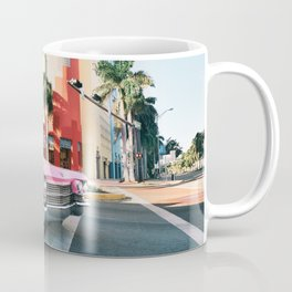 Pink Cadillac , Miami Beach Florida Coffee Mug