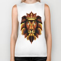 the lion king Biker Tanks featuring Lion King by Mart Biemans